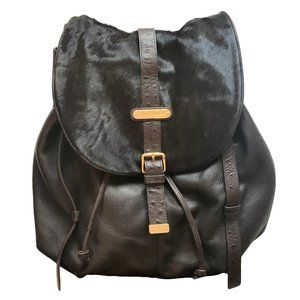 CYNTHIA ROWLEY Pebbled Leather & Hide Backpack